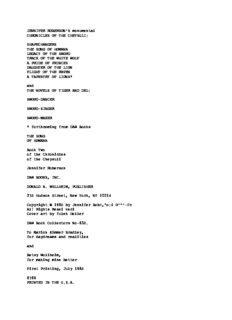 Jennifer Roberson - CotC 2 - The Song of Homana