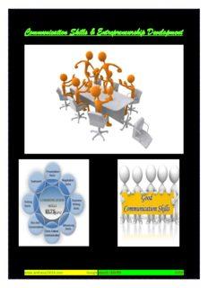 Communication Skills & Entrepreneurship Development