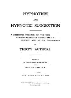 hypnotism hypnotic suggestion