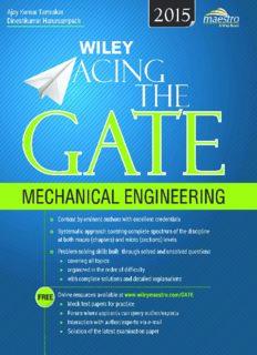 WILEY ACING THE GATE MECHANICAL ENGINEERING