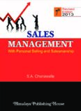 SALES MANAGEMENT: With Personal Selling and Salesmanship