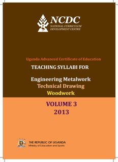 Engineering Metal Work, Technical Drawing and Woodwork Volume