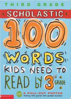 100 words kids need to read by 3 grade