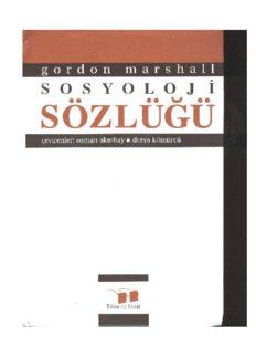 Gordon Marshall – Sosyoloji Sözlüğü