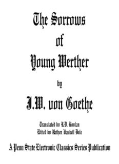 The Sorrows of Young Werther - Penn State University