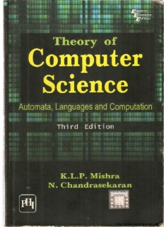 Theory of Computer Science (Automata, Languages and Computation) Third Edition