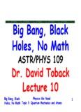 Dr. David Toback Dr. Dav d oback Lecture 11 Lecture 11