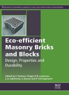 Eco-efficient Masonry Bricks and Blocks Design, Properties and Durability