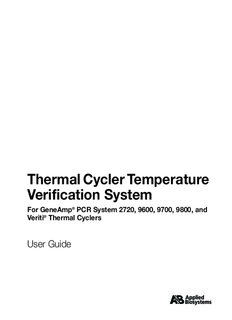 Thermal Cycler Temperature Verification System