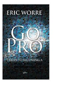Go Pro 7 Steps to Becoming a Network Marketing Professional Eric Worre