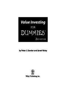 Value Investing For Dummies (For Dummies (Business & Personal Finance))