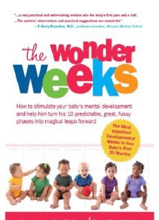 The wonder weeks : how to stimulate your baby's mental development and help him turn his 10 predictable, great, fussy phases into magical leaps forward