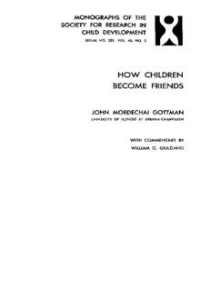 HOW CHILDREN BECOME FRIENDS - John M. Gottman, Ph.D.