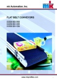 CONVEYOR SYSTEMS mk Automation, Inc. FLAT BELT CONVEYORS
