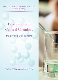 Experiments in General Chemistry: Inquiry and Skill Building (Brooks Cole Laboratory Series for General Chemistry)