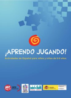 Aprendo jugando. Actividades de español para niños y niñas de 6-9 años