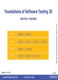Foundations of Software Testing 2E ADITYA P. MATHUR