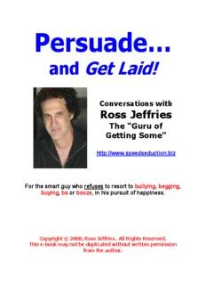 Speed Seduction: Magic or Mechanics - Ross Jeffries The Game