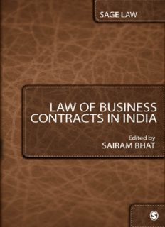 Law of Business Contracts in India (Law and Criminal Justice System)
