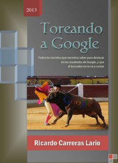 Toreando a Googe - Ricardo Carreras Lario