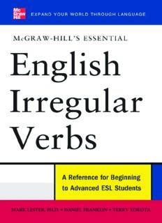 McGraw-Hill's Essential English Irregular Verbs (McGraw-Hill ESL References)