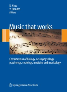Music that works: Contributions of biology - Svetlost