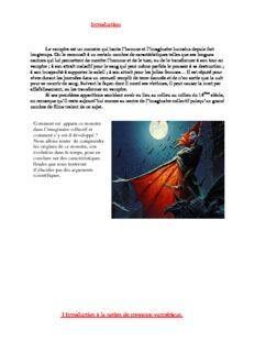I Introduction la notion de croyance vampirique