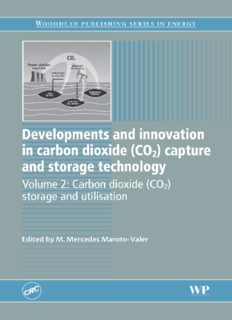 Developments and Innovation in Carbon Dioxide (CO2) Capture and Storage Technology: Volume 2: Carbon Dioxide (CO2) Storage and Utilisation (Woodhead Publishing Series in Energy)