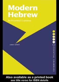 Modern Hebrew: An Essential Grammar - Readers StuffZ