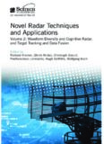 Novel Radar Techniques and Applications, Volume 2: Waveform Diversity and Cognitive Radar, and Target Tracking and Data Fusion