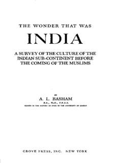 The Wonder that was India (A L Basham)
