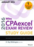Wiley CPAexcel Exam Review 2016 Study Business Environment and concepts