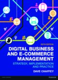 Digital business and E-commerce management : strategy, implementation and practice