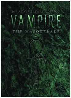 VAMPIRE THE MASQUERADE 20th ANNIVERSARY