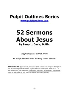52 Sermons About Jesus - Sermon Outlines You Can Preach