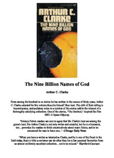 The Nine Billion Names of God: The Collected Stories of Arthur C. Clarke, 1951-1956