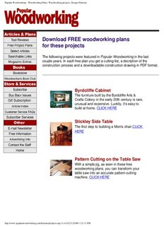 Popular Woodworking - Woodworking Plans, Woodworking projects, Designs Patterns
