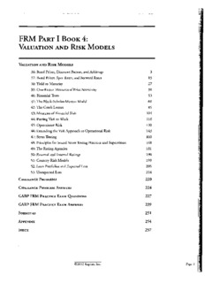 Page 1 FRM PART I BOOK 4: VALUATION AND RISK MoDELs VALUATION AND RISK MoDELs ...
