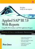 Using BEx Web Analyzer and Web Application Designer