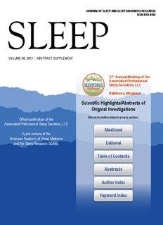 JOURNAL OF SLEEP AND SLEEP DISORDERS RESEARCH ISSN 0161-8105 SLEEP