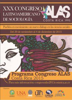 Programa Congreso ALAS Costa Rica 2015