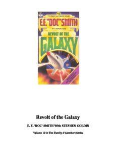 Revolt Of The Galaxy (Family D' Alembert, No 10)