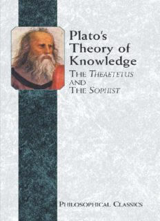 Plato's Theory of Knowledge: The Theaetetus and the Sophist of Plato Translated with a Running Commentary