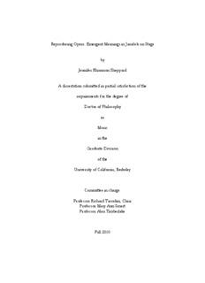 Reproducing Opera: Emergent Meanings in Janáček on Stage by Jennifer Rhiannon Sheppard A ...