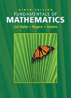 Fundamentals of Mathematics (9th Edition)