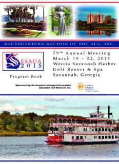 22, 2015 Westin Savannah Harbor Golf Resort & Spa Savannah, Georgia
