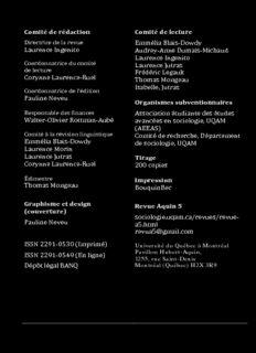 Comité de rédaction Laurence Ingenito Corynne Laurence-Ruel Pauline Neveu Walter-Olivier ...