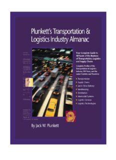 Plunkett's Transportation, Supply Chain & Logistics Industry Almanac 2010: Transportation, Supply Chain & Logistics Industry Market Research, Statistics, ... Transportation & Logistics Industry Almanac)
