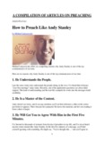 How to Preach Like Andy Stanley