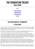 Asimov The Foundation Trilogy pdf